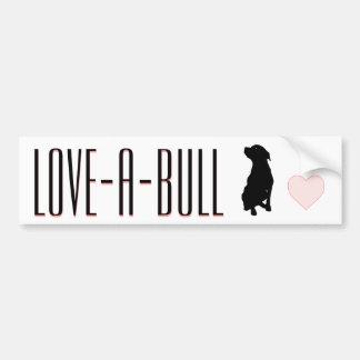 Adesivo Para Carro Autocolante no vidro traseiro de Amor-UM-Bull
