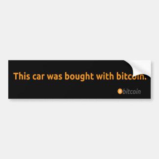 Adesivo Para Carro Autocolante no vidro traseiro de Bitcoin