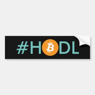 Adesivo Para Carro Autocolante no vidro traseiro de Bitcoin do #HODL