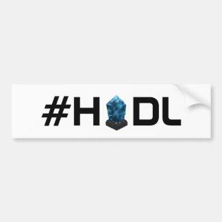 Adesivo Para Carro Autocolante no vidro traseiro de Lisk LSK do #HODL