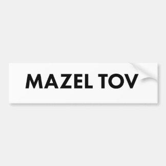 Adesivo Para Carro Autocolante no vidro traseiro de Mazel Tov