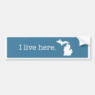 Adesivo Para Carro Autocolante no vidro traseiro de Michigan
