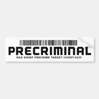 Adesivo Para Carro Autocolante no vidro traseiro de Precriminal