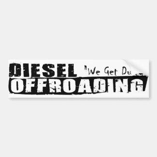 Adesivo Para Carro Autocolante no vidro traseiro diesel de Offroading