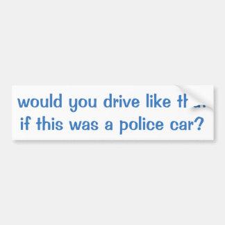 Adesivo Para Carro Autocolante no vidro traseiro do carro de polícia