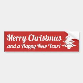 Adesivo Para Carro Autocolante no vidro traseiro do Feliz Natal e do