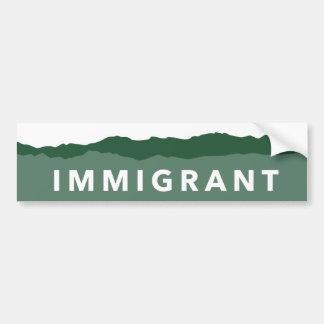Adesivo Para Carro Autocolante no vidro traseiro do imigrante de