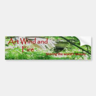 Adesivo Para Carro Autocolante no vidro traseiro do vento e do fogo