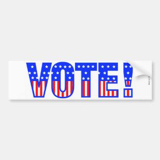 Adesivo Para Carro Autocolante no vidro traseiro do voto