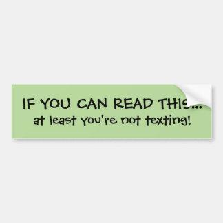 Adesivo Para Carro Autocolante no vidro traseiro engraçado de Texting