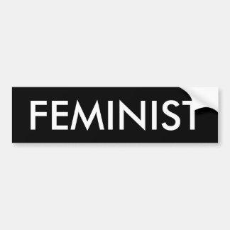 Adesivo Para Carro Autocolante no vidro traseiro feminista