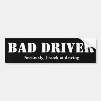 Adesivo Para Carro Autocolante no vidro traseiro mau do motorista