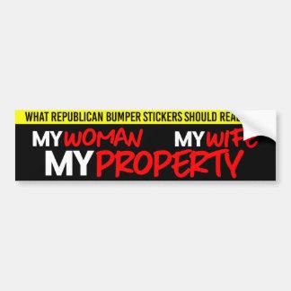 Adesivo Para Carro Autocolante no vidro traseiro republicano - minha