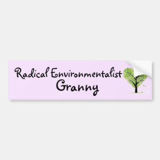 Adesivo Para Carro Avó radical do ecologista