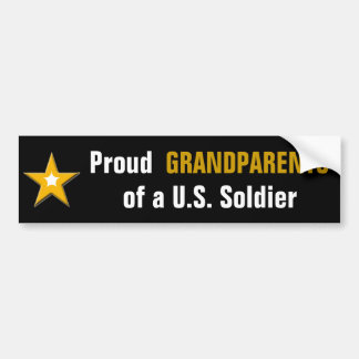 Adesivo Para Carro Avós orgulhosas de um soldado dos E.U.