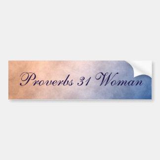 Adesivo Para Carro Azul e laranja bonitos da mulher dos provérbio 31
