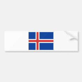 Adesivo Para Carro Baixo custo! Bandeira de Islândia