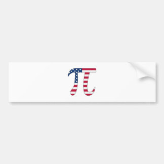 Adesivo Para Carro Bandeira americana do dia do Pi, símbolo do pi