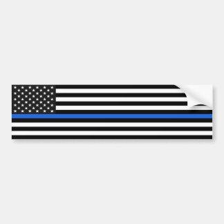 Adesivo Para Carro Bandeira americana fina de Blue Line