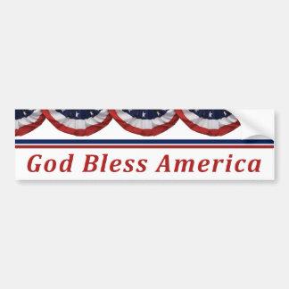 Adesivo Para Carro Bandeira americana patriótica de América dos deus