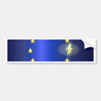 Adesivo Para Carro Bandeira brilhante da UE