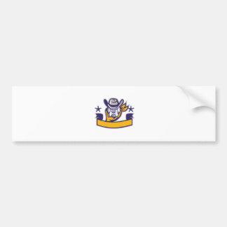 Adesivo Para Carro Bandeira da cabeça do vaqueiro do xerife do