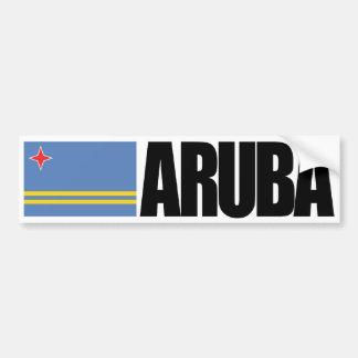 Adesivo Para Carro Bandeira de Aruba