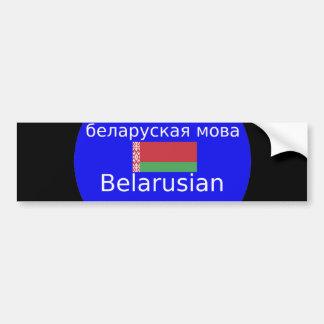 Adesivo Para Carro Bandeira de Belarus e design da língua