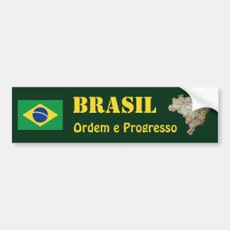 Adesivo Para Carro Bandeira de Brasil + Autocolante no vidro traseiro
