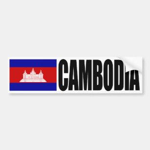 Adesivo Para Carro Bandeira de Cambodia