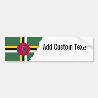 Adesivo Para Carro Bandeira de Dominica