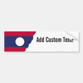 Adesivo Para Carro Bandeira de Laos