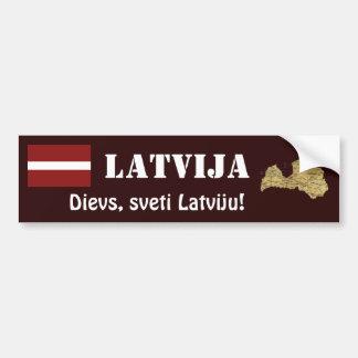 Adesivo Para Carro Bandeira de Latvia + Autocolante no vidro traseiro