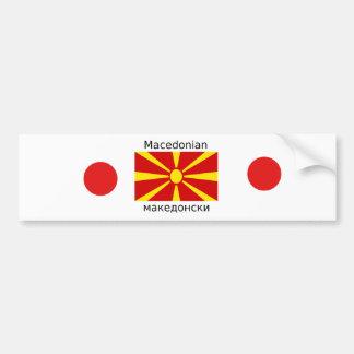 Adesivo Para Carro Bandeira de Macedónia e design macedónio da língua