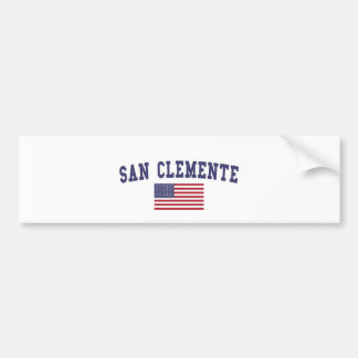 Adesivo Para Carro Bandeira de San Clemente E.U.