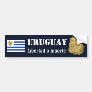 Adesivo Para Carro Bandeira de Uruguai + Autocolante no vidro