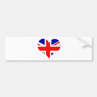 Adesivo Para Carro Bandeira do coração de Union Jack