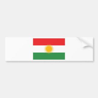 Adesivo Para Carro Bandeira do Curdistão; Curdo; Curdo