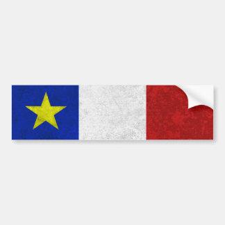 Adesivo Para Carro Bandeira do Grunge afligido Acadia