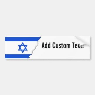 Adesivo Para Carro Bandeira do israelita