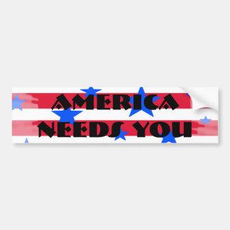 Adesivo Para Carro Bandeira dos Estados Unidos branca vermelha