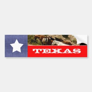 Adesivo Para Carro Bandeira e cavalos de Texas