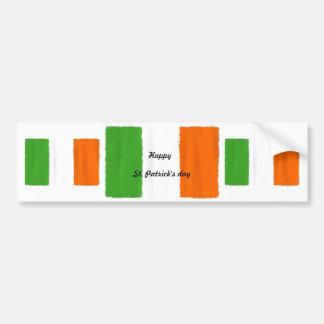 Adesivo Para Carro Bandeira irlandesa, bandeira, aguarela do dia de