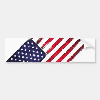 Adesivo Para Carro Bandeira patriótica americana do Grunge