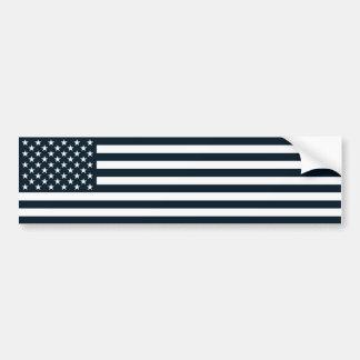 Adesivo Para Carro Bandeira preta & branca patriótica americana