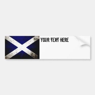 Adesivo Para Carro Bandeira preta de Scotland do Grunge
