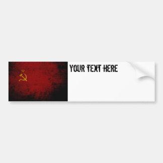 Adesivo Para Carro Bandeira preta de União Soviética do Grunge