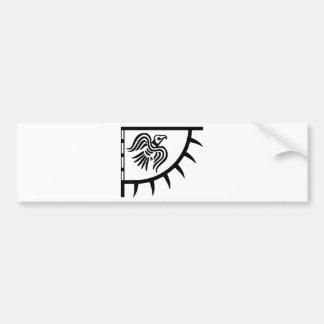 Adesivo Para Carro Bandeira preta do corvo de Viking