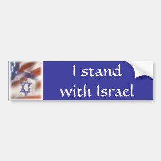 Adesivo Para Carro Bandeira que americana e israelita eu estou com