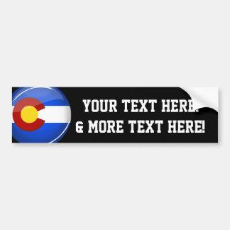 Adesivo Para Carro Bandeira redonda brilhante de Colorado